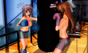 Tamao and Lilly: THAT Day in the Gym 02 by KiraYamato74