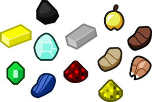 Various Minecraft Items Lineart by JLuigiJohn