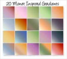 Monet-Inspired Gradients by cazcastalla