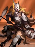 Phillippe the Eastern Sergal soldier by mick39