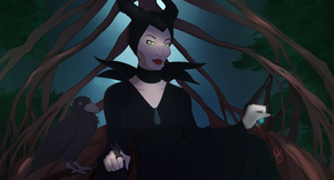 Dont be afraid: Maleficent Disney inspired art by AKABurningFlame