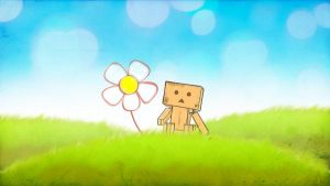 Danbo and a flower by Musashigyo