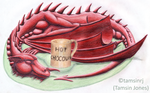 Welsh dragon with hot chocolate by tamsinrj