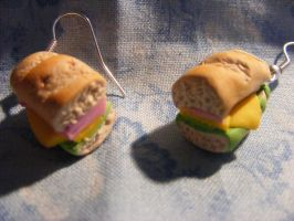 Tiny sub earrings by susie42