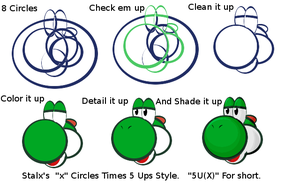 Yoshi and the 5Ux by Stalx
