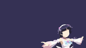 Kuroneko minimalistic wallpaper 2 by Browniehooves