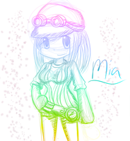 AT: Mia Rainbow Sketch by Mephilez