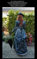 Blue dressed Victorian Lady by MADmoiselleMeliStock