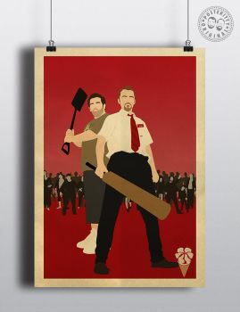 Shaun of the Dead Cornetto Minimalist Poster by Posteritty