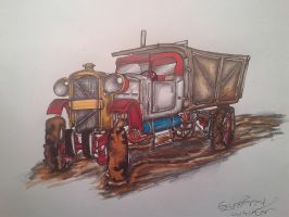 Old Dump truck by ownerfate