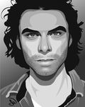 Aidan Turner by WizardofFalalas