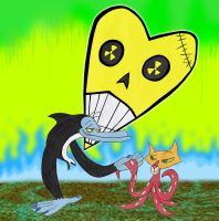 Mr. Smarty Smarts and Octocat by LeoDIlfKaiser