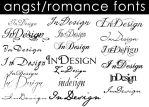 Angst-Romance Fonts by Moonangel517