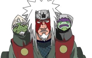 Jiraiya sage mode by Goforthpro