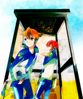 AT:ina11:Endou and Hiroto by akinohara