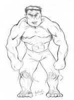 Free Sketch- The Hulk by NickMockoviak