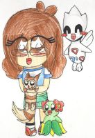 AT: Ashley, Blossom, Fluffy and Audrey by V-P-aurore-star