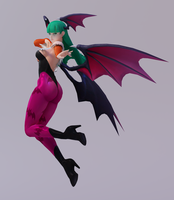 Morrigan 3DS Render 2 by x2gon
