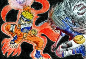 Naruto Vs Sasuke by karasuba