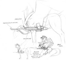 Rough design for battle saddle by Baron-Engel