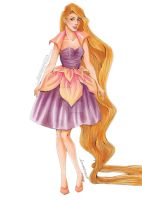 Fashion Illustration - Rapunzel by zyrabanez