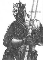 Darth Maul pencil by chosen-1