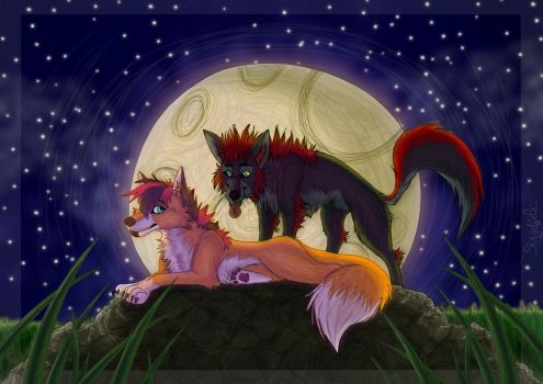 Midnight Love -Art Trade with Mary251 by I-Am-Strydiele
