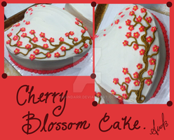 Cherry Blossom Cake Design by iMandarr