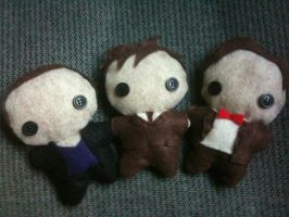 Doctor Who Plushies by CheesyHipster