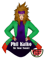 Phil Kaiko - The Stone Monster by BubbleGumPlayer133