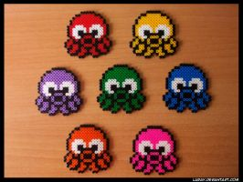 Hama beads - Octopus invaders by Luray