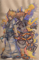 Roxas and Sora by sievkatronshea