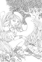 ++ Harpy- lineart ++ by CathM