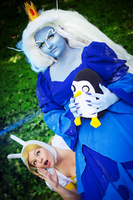Fionna and Ice Queen cosplay by Shipou-Negiru
