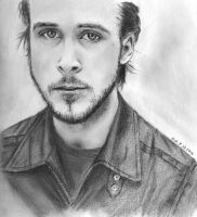 Ryan Gosling pencil portrait by Skylark6277