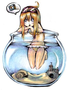 Girl in a fishbowl by Parororo