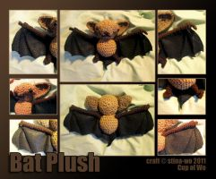Bat-tastic Plushie by stina-woot