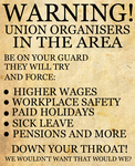 Anti Union Poster by Party9999999