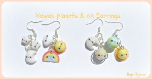 Kawaii planets and co. earrings by Bojo-Bijoux