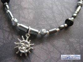 Sun Pentagram Tattoo Bracelet OOAK by SpellsNSpooks