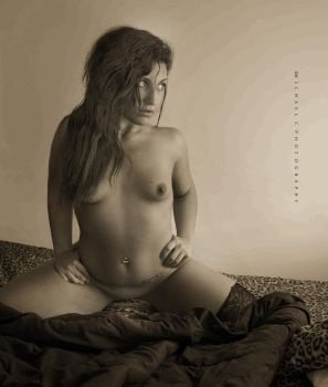 Kaitlin - DSC02293 Sepia by MichaelCPhotography