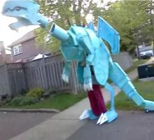 Blue Eyes White Dragon Cosplay: COMPLETE by KitKatJackster