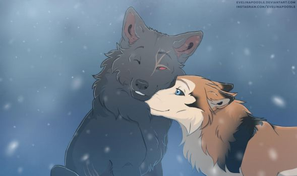 Wolves YCH by Evelinapoodle