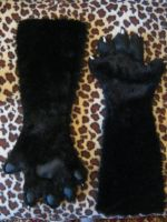 Black cat handpaws by SnowVolkolak