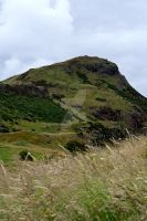 Looking Up at Arthur's Seat by HyperCaz