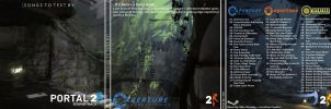Portal 2 OST BoxArt (Front, Back, Inlay) by daedalus-net