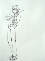 James Carstairs - Me and the violin. by acchan-KYOUYA