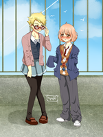 Request: Kyoukai no Kanata Outfit Swap by madzik23