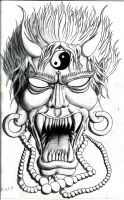 oni tattoo 1 by freesoultheartist
