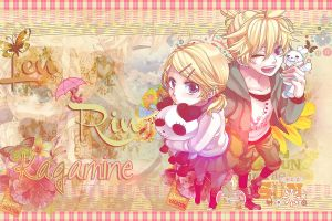 Wallpaper Rin and Len Kagamine by Airumi-Dai